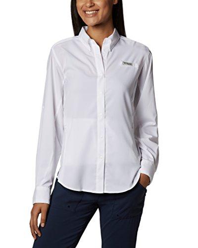 Columbia Women's Tamiami II Long Sleeve Shirt, White, Medium