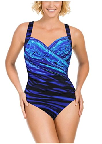 Miraclesuit Kirkland Signature by One Piece Swimsuit (12, New Wave Sanibel)