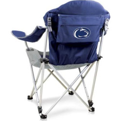 Outdoor Picnic Time Penn State Nittany Lions Reclining Camp Chair, Blue (Navy)
