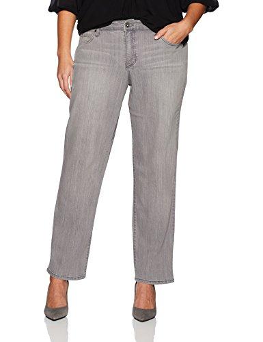 Bandolino Women's Plus Size Mandie Signature Fit 5 Pocket Jean, Dark Grey Smoke, 24W