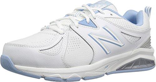 New Balance Women's wx857v2 Casual Comfort Training Shoe, White/Blue, 11 B US