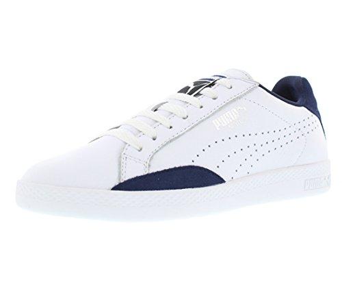 PUMA Women's Match LO Basic Sports WN's Tennis Shoe, White/Peacoat, 7 M US