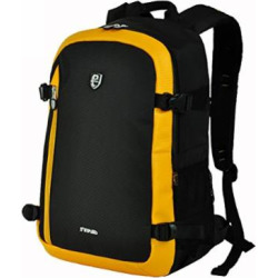 Waterproof Camera Bag Nylon DSLR Camera Backpack Daypack Laptop Compartment for Nikon Canon Cameras Olympus EOS Pentax Dslr SLR (Yellow)