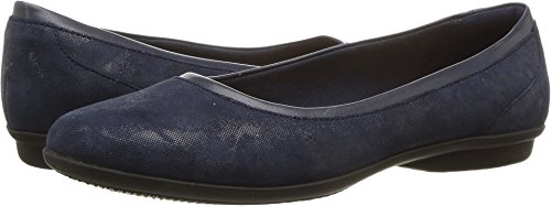 Clarks Women's Gracelin Mara Flat,Navy,10 M US