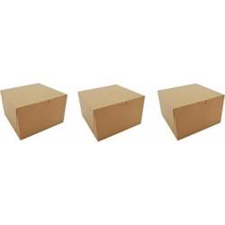 Southern Champion Tray 09455K Kraft Paperboard Non Window Lock Corner Bakery Box, 8″ Length x 8″ Width x 5″ Height (Case of 100) (3-(Case of 100))