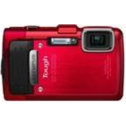 Refurbished Olympus Stylus TG-830 iHS Digital Camera with 5x Optical Zoom and 3-Inch LCD (Red)