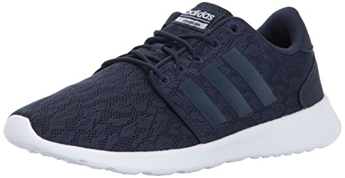 adidas Women's CF QT Racer Running Shoes, Collegiate Navy/White, (7 M US)