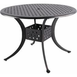 Nuu Garden 42″ Indoor Outdoor Patio Solid Cast Aluminum Round Dining Conversation Table CT003, Antique Bronze