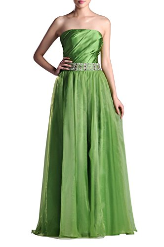 Organza Natrual Floor Length Strapless A-Line Special Occasion Evening Dress, Color Turquoise,Customized
