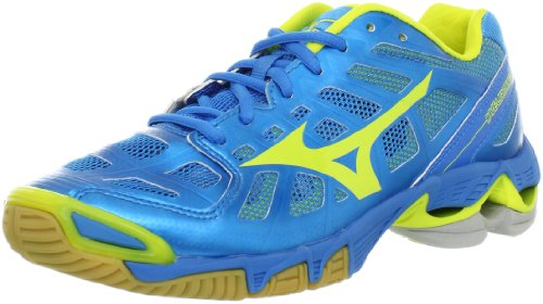 Mizuno Women's Wave Lightning RX2 Volleyball Shoe,Diva Blue/Lemon,9 B US