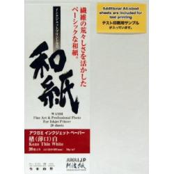 Awagami Kozo Thin White Fine Art Inkjet Paper, 70gsm A3 (11.69″ x 16.54″) 10 Sheets