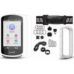 Garmin Edge 1030 Cycle Bundle (+$50 Rebate) | w/Chest HRM, Speed/Cadence Sensors, PlayBetter Silicone Case & Screen Protectors | Bike Mounts | GPS Bike Computer, Navigation (+Bundle, White Case)