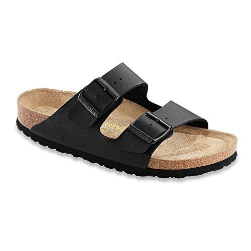 Birkenstock Unisex Arizona Soft Footbed Black Sandals – 7-7.5 2A(N) US Women