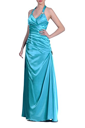 Adorona Long Formal Dresses for Women Evening Pleated Natrual Halter Full Length Prom Dress, Color Wine,Customized