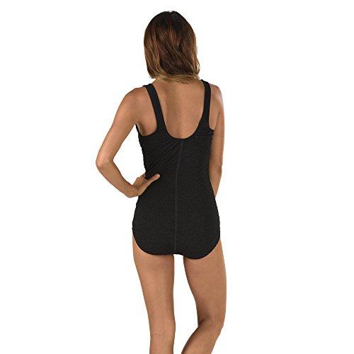 Speedo Women's Pebble Texture One Piece Swimsuit, Speedo Black, Size 12