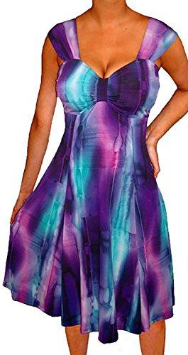 Funfash PX2 Plus Size Women Purple Empire Waist A Line Cocktail Cruise Dress 2X