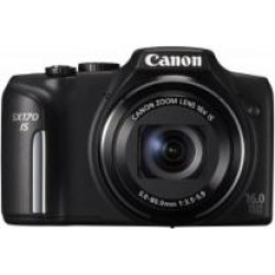 CANON PowerShot SX170 IS 3-Inch LCD 16 Megapixel Compact Camera, Black