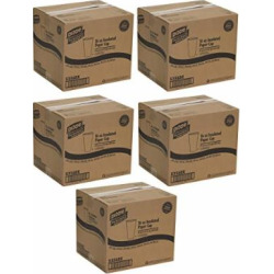 Dixie PerfecTouch 5356DX WiseSize Coffee Design Insulated Paper Cup, Georgia-Pacific, 16oz (Case of 20 Sleeves, 25 Cups per Sleeve), 5 Cases