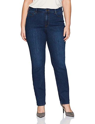 NYDJ Women's Plus Size Marilyn Straight Leg Jeans, Cooper, 20W