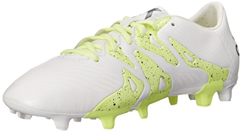 adidas Performance Women's X 15.3 FG/AG W Soccer Cleat,White/Silver/Yellow,6 M US