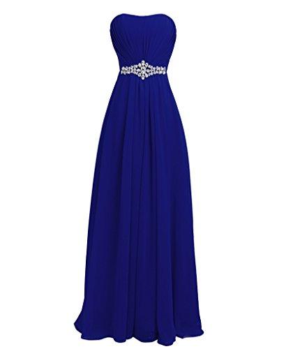 FAIRY COUPLE Strapless Bridesmaids Evening Dresses D004 (US14, Sapphire Blue)