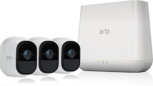 Arlo Pro – Wireless Home Security Camera System | Rechargeable, Night vision, Indoor/Outdoor | 3 camera kit (VMS4330)