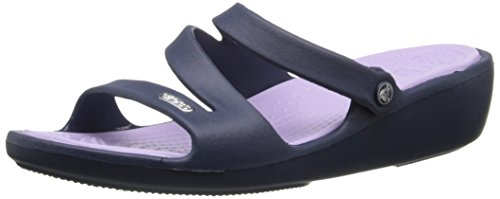 crocs Women's Patricia Sandal,Navy/Lavender,8 M