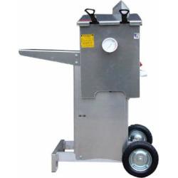 R & V Works FF2-R-AL-ST Aluminum 4 Gallon Liquid Propane Outdoor Cajun Deep Fryer with Stand – 90,000 BTU