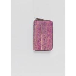 Leather Zip-Around Wallet – Raspberry Bubble Tea by VIDA