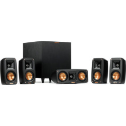 klipsch black reference theater pack 51 surround sound system  - Klipsch Black Reference Theater Pack 5.1 Surround Sound System - REFTHEATERPACK51