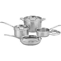Cuisinart MultiClad Pro Triple-Ply 7-Piece Cookware Set