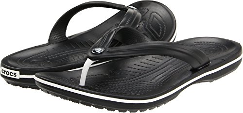 crocs Unisex Crocband Flip-Flop, Black, 5 US Men / 7 US Women