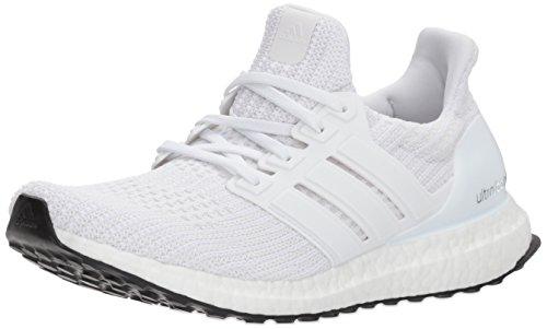 adidas Women's Ultraboost w Road Running Shoe, White/White-2/White, 8 M US