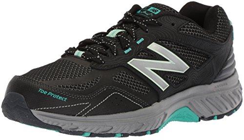New Balance Women's 510v4 Cushioning Trail Running Shoe, Black, 7.5 D US