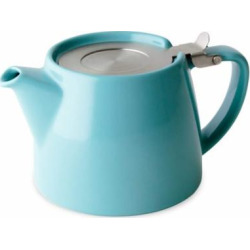Teapot Tea Infuser, Harper Blue Ceramic Loose Leaf Insulated Teapots With Infuser (Sold by Case, Pack of 4)