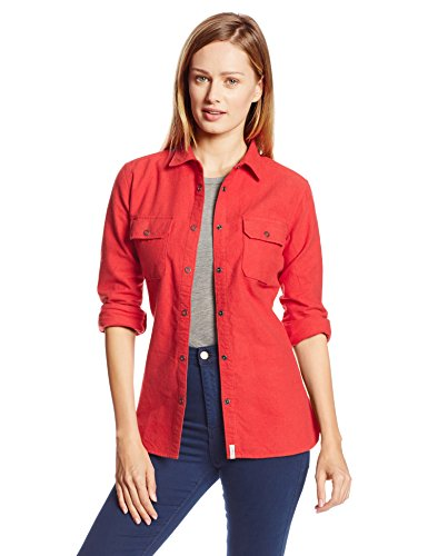 Woolrich Women's Chamois Regular Fit Shirt, Cardinal Heather, Medium