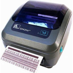 Zebra – GK420d Direct Thermal Desktop Printer for Labels, Receipts, Barcodes, Tags, and Wrist Bands – Print Width of 4 in – USB, Serial, and Parallel Port Connectivity (Includes Peeler)