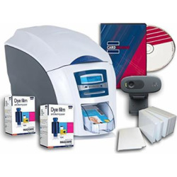 Magicard Enduro 3e Dual Sided ID Card Printer & Supplies Bundle with Card Imaging Software (3633-3021)