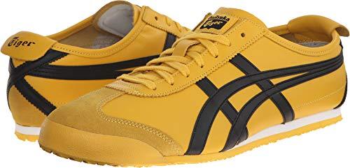 Onitsuka Tiger Mexico 66 Fashion Sneaker, Yellow/Black, 4 M Men's US/5.5 Women's M US
