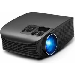 Video Projector, RocketPro Projector 30,000 Hour, 200″ LCD 1080P Full-HD Portable Projector Compatible with HDMI VGA AV USB MicroSD Audio Out 3.5mm for All Entertainment, Home Theater, Party, Games