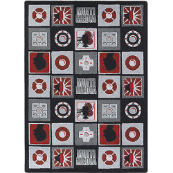 The Conestoga Trading Co. Red/Gray Area Rug CNTC2740 Rug Size: 10'9″ x 13'2″