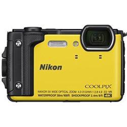 nikon w300 waterproof underwater digital camera with tft lcd, 3, yellow (26525)