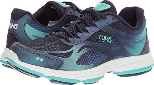 Ryka Women's Devotion Plus 2 Walking Shoe, Navy/Teal, 7.5 M US