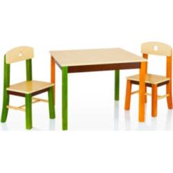 See & Store Table and Chairs (Set of 3), Multi