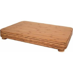 Totally Bamboo Big Kahuna Bamboo Serving and Cutting Board with Non-Slip Feet, 24″ x 18″ x 3″