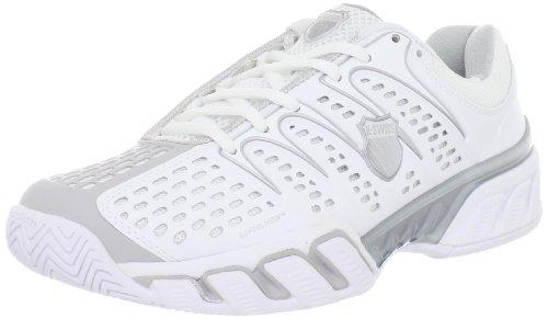 K-Swiss Women's BigshotII Tennis Shoe, White/Gull Grey, 8 M US