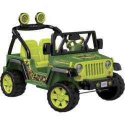 Power Wheels 12V Teenage Mutant Ninja Turtles Jeep Wrangler Ride-On