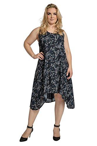 Standards & Practices Curvy Women's Plus Size Navy Chiffon Camo Zip Back Tank Dress Size 2X
