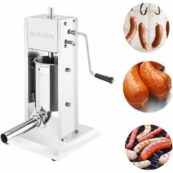 Zimtown Commercial Vertical Stainless Steel Sausage Stuffer Maker 7LBS/3L