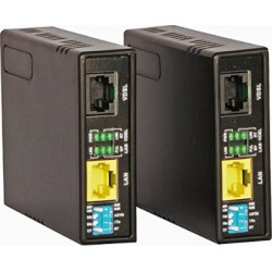 Tupavco Ethernet Extender Kit – 2pc Pair TEX-100 – Range up to 1 Mile/7000FT Over Phone Copper Wire or CAT5/CAT6 Network Cable -VDSL2 LAN Booster Bridge Repeater-VDSL High Speed Broadband 100 Mbps